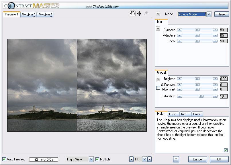 Full ContrastMaster Plugin screenshot